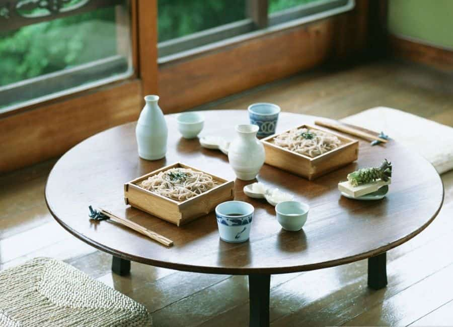 Traditional Japanese Table Setting. Japanese Table Manners