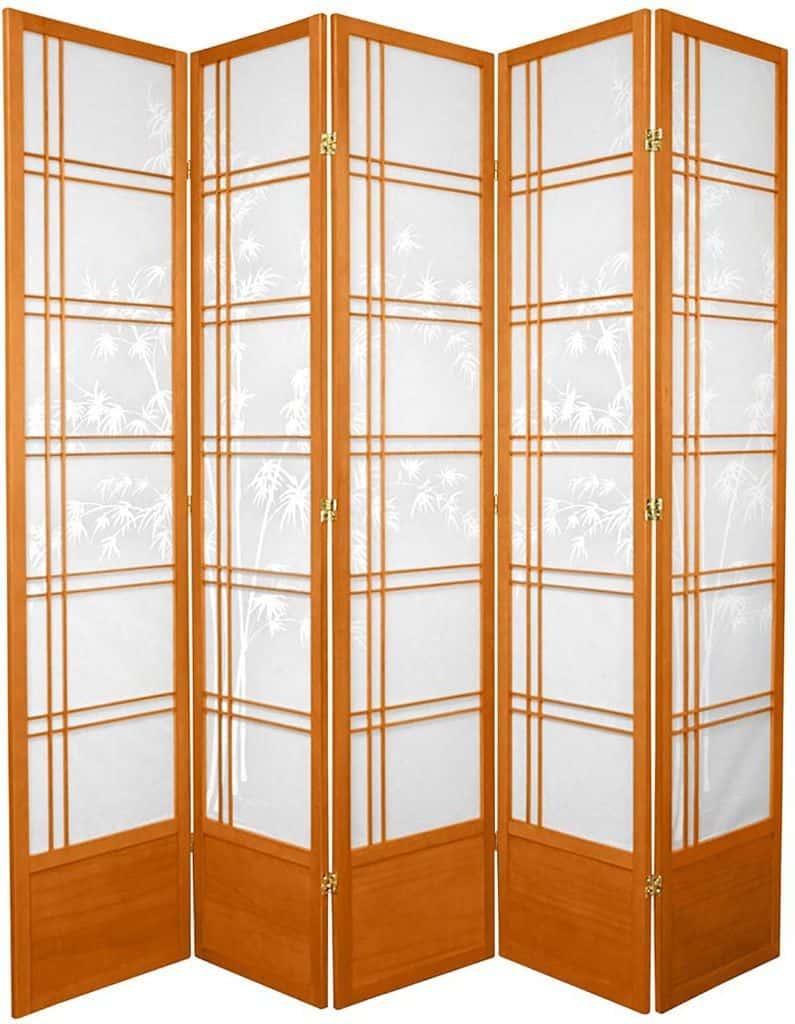Oriental Furniture 7ft. Tall Bamboo Tree Japanese Shoji Screen Room Divider