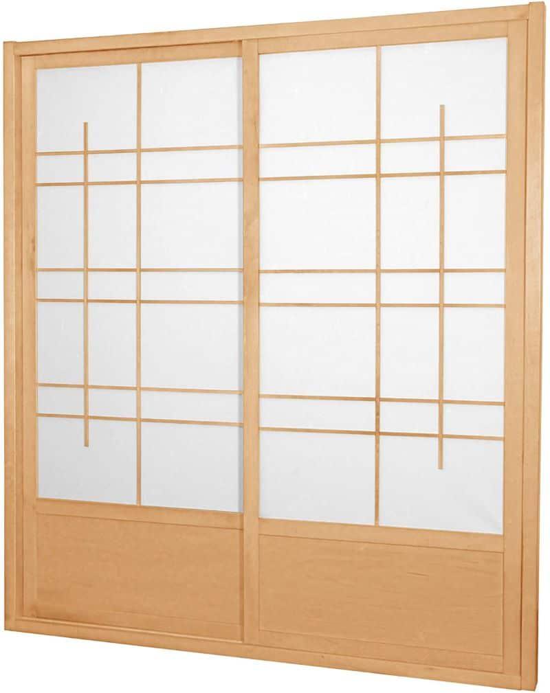 Oriental Furniture 7 ft. Tall Eudes Japanese Shoji Screen Sliding Door