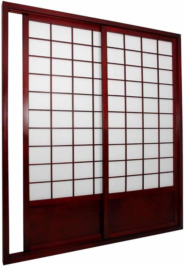 Oriental Furniture 7 ft. Tall Zen Japanese Shoji Screen Sliding Door