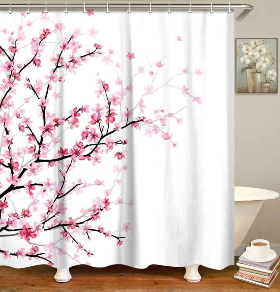 LIVILAN Pink Floral Japanese Cherry Blossom Decor