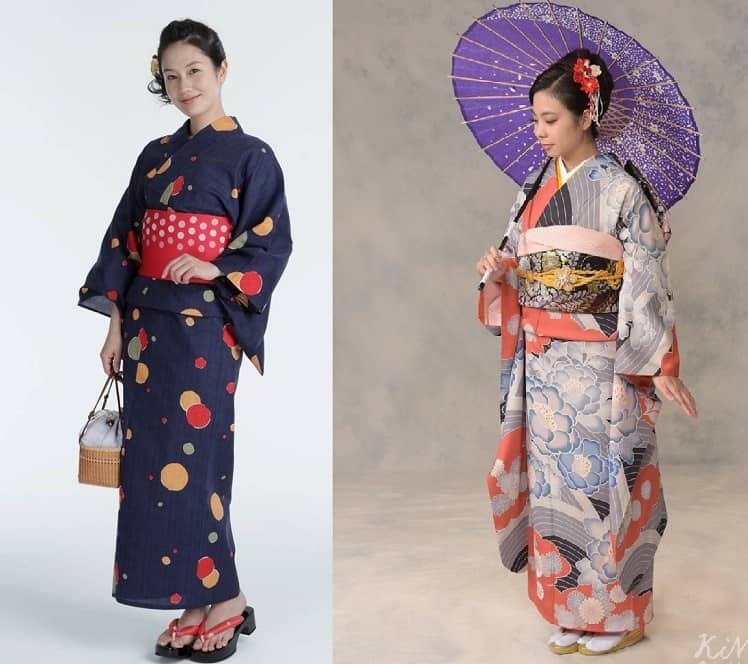 What is the difference between Japanese Kimono and Yukata?