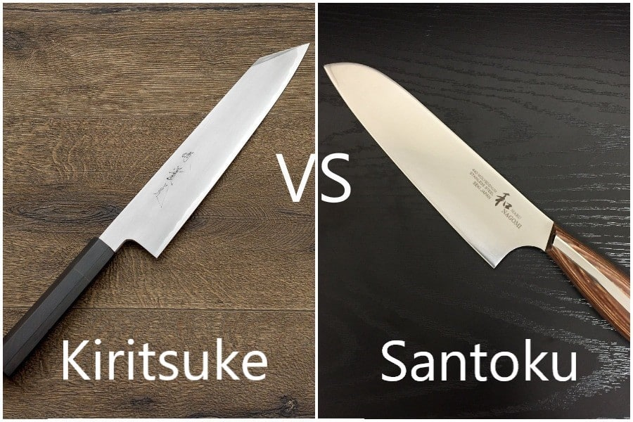Japanese Kiritsuke vs Santoku Knife - What is the difference?