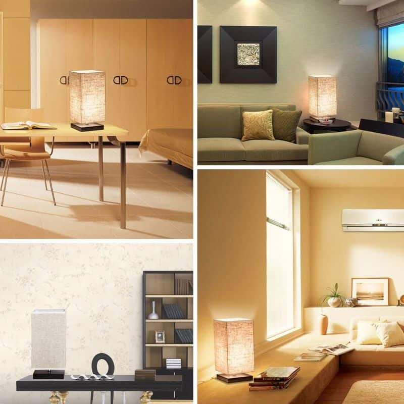 ZEEFO Simple Japanese Rice Paper Table Lamp