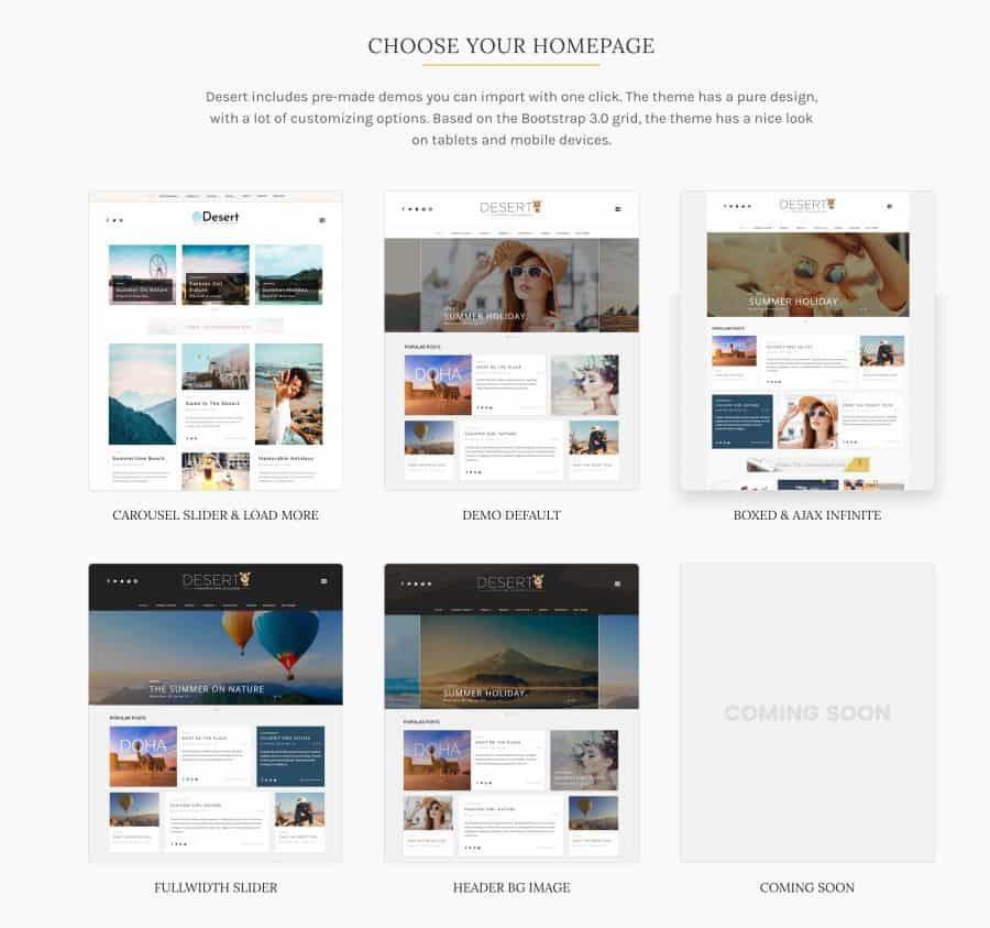 Desert Theme - Desert WordPress Theme for Travel Blog - Download