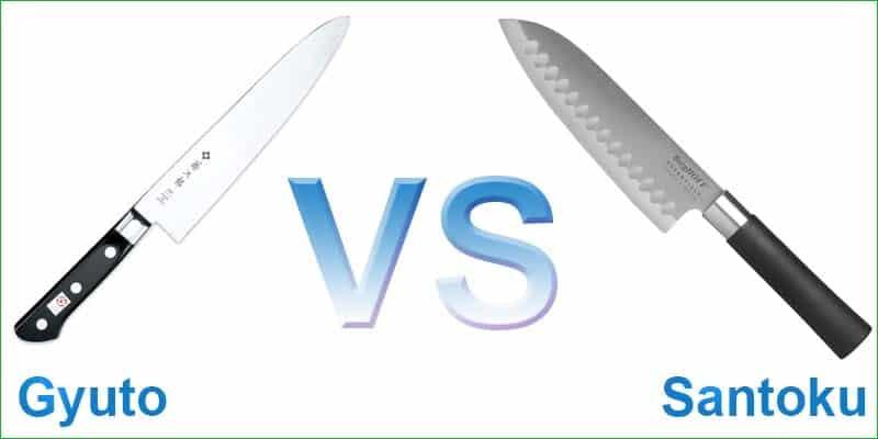Santoku vs Gyuto knife. Difference between Santoku vs Gyuto knife