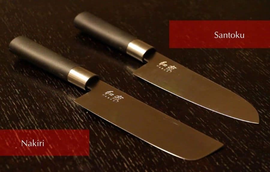 Japanese Nakiri vs Santoku Knife - What is the difference?