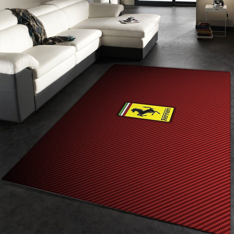 Ferrari Logo Area Rug For Christmas Bedroom Floor Decor Home Decor Travels In Translation