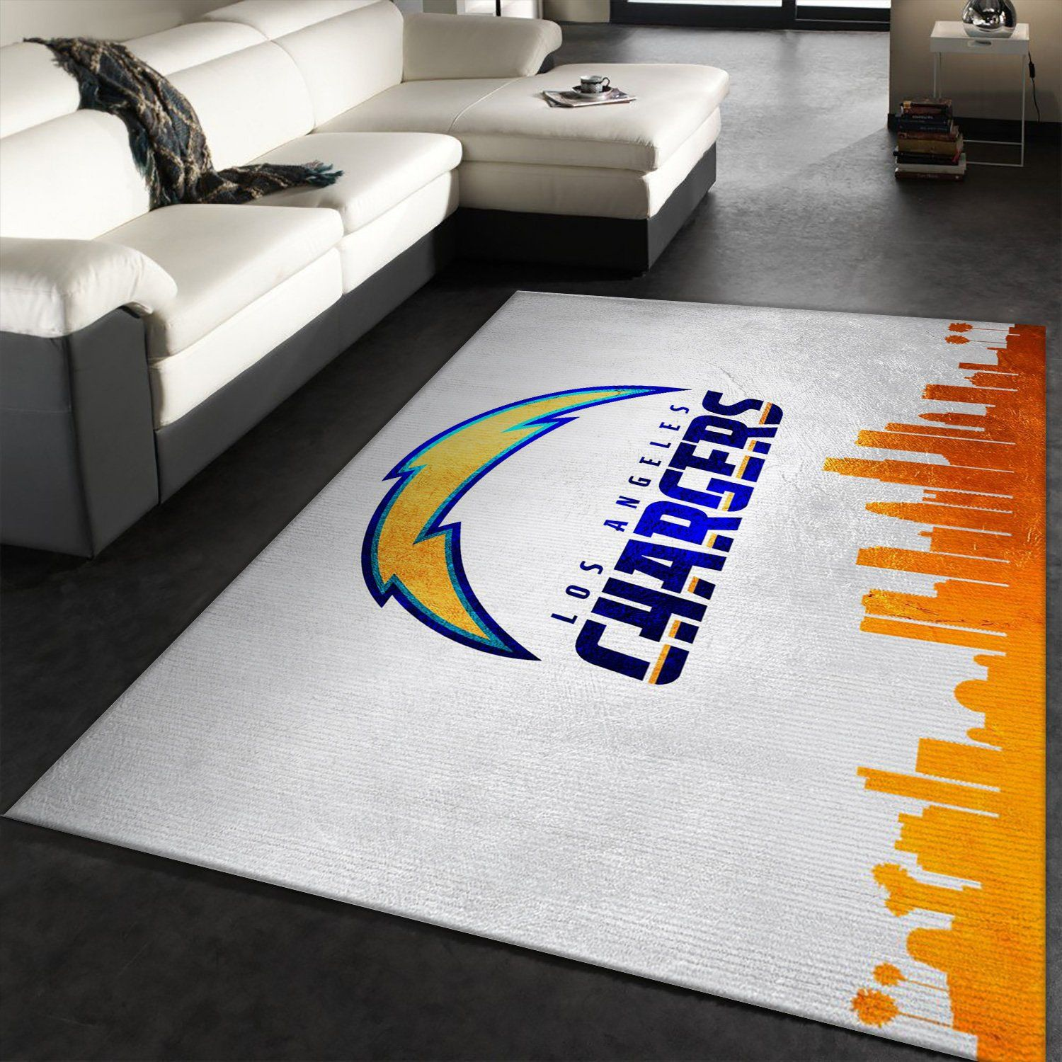 Los Angeles Chargers NFL Area Rug, Kitchen Rug, Floor Decor Home Decor