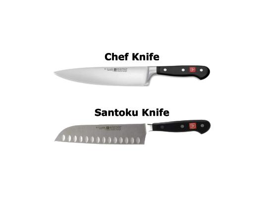 Compare Santoku Knife Vs Chef Knife